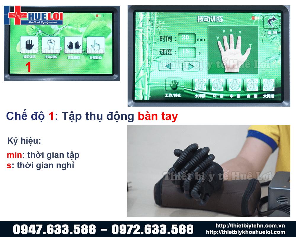 chế độ tập bàn tay thụ động