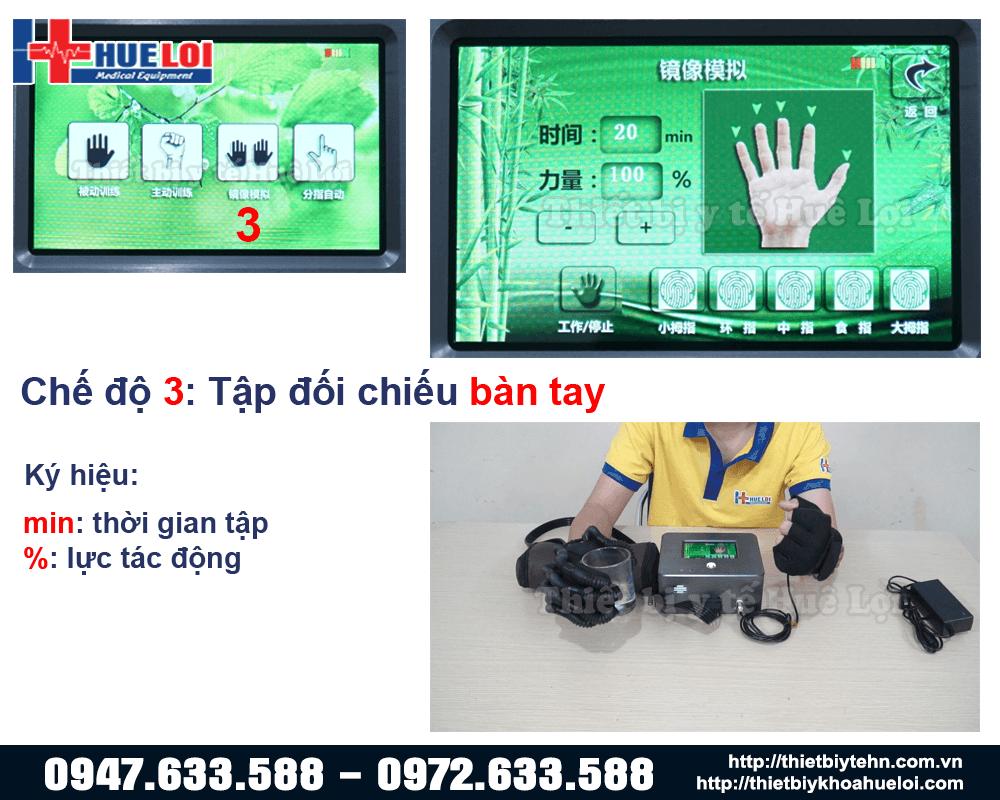 chế độ tập đối chiếu hai bàn tay